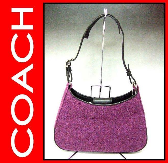 COACH(コーチ)/バッグ/ミニショルダー(起毛;紫)