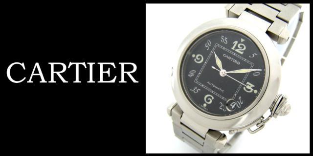 Cartier(カルティエ)のパシャC スモールデイト ブラック