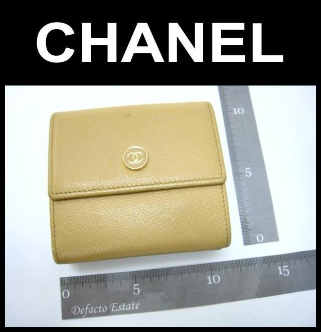 CHANEL(シャネル)/Wホック財布/ロゴボタン