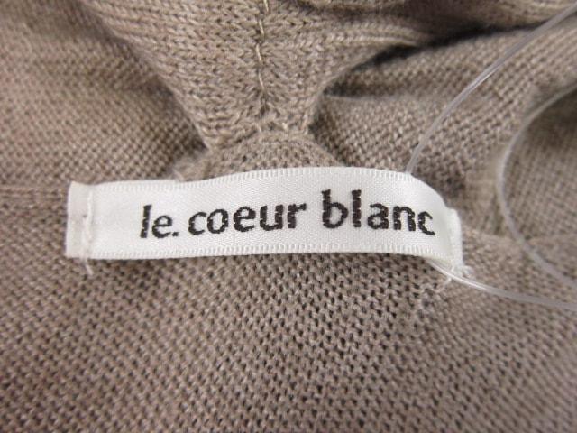 le.coeur blanc(ルクールブラン)のカーディガン
