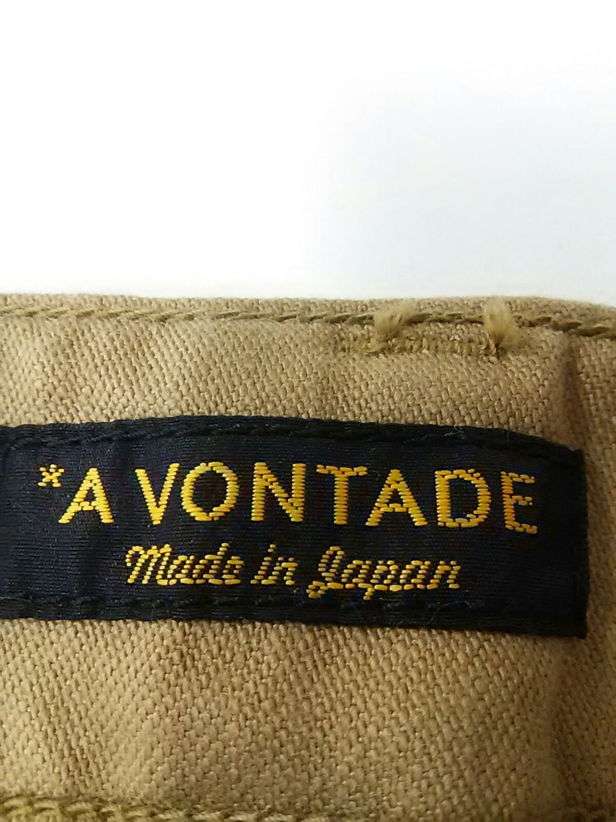 A Vontade(ア ボンタージュ)のパンツ