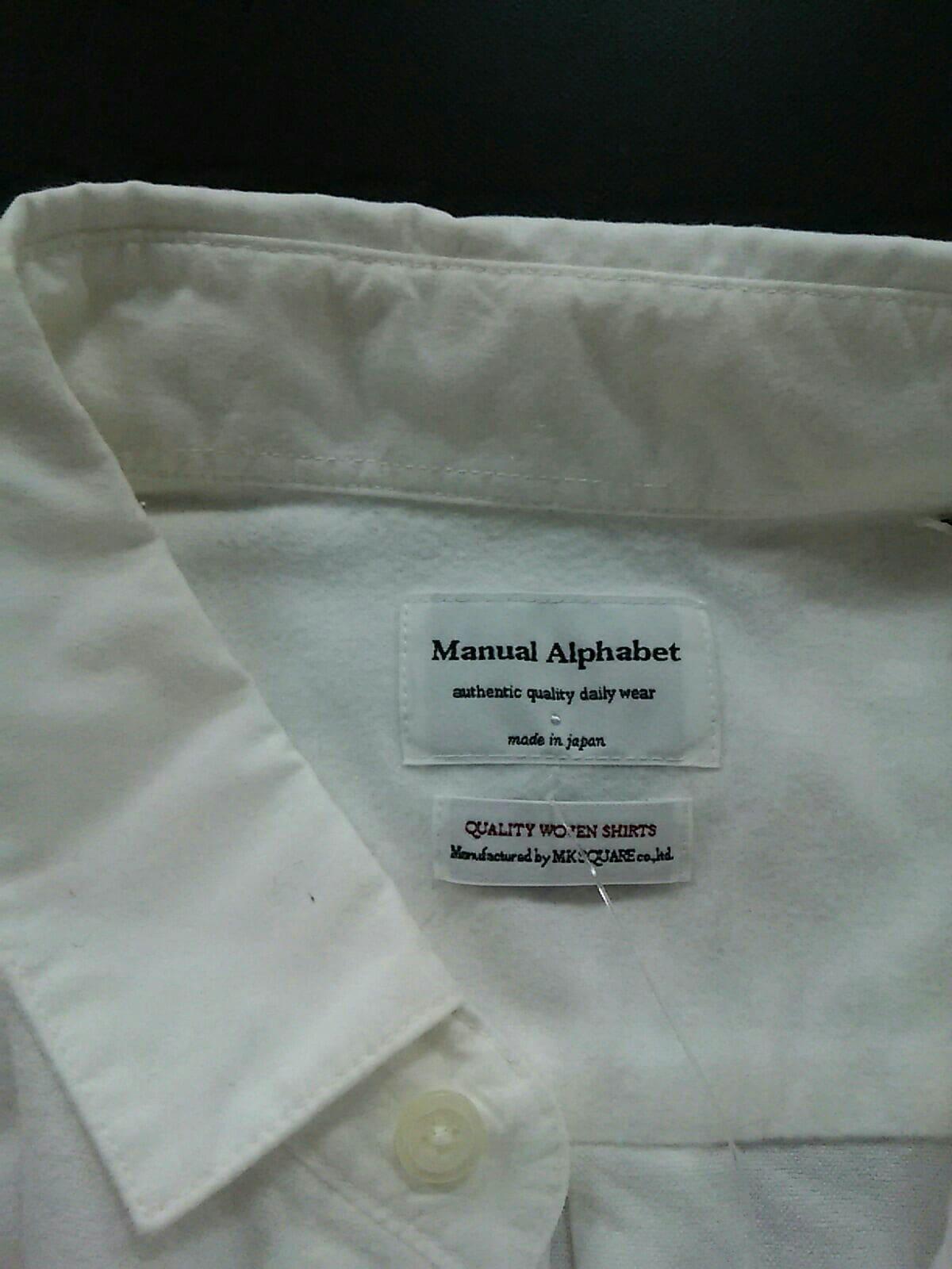 ManualAlphabet(マニュアルアルファベット)のシャツブラウス