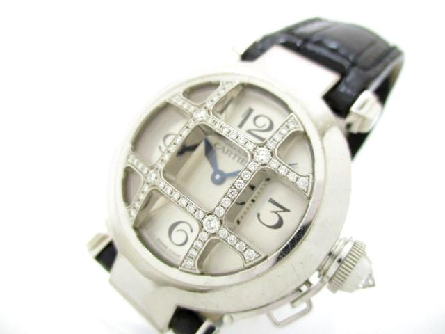 Cartier(カルティエ)のパシャ32グリッドダイヤ