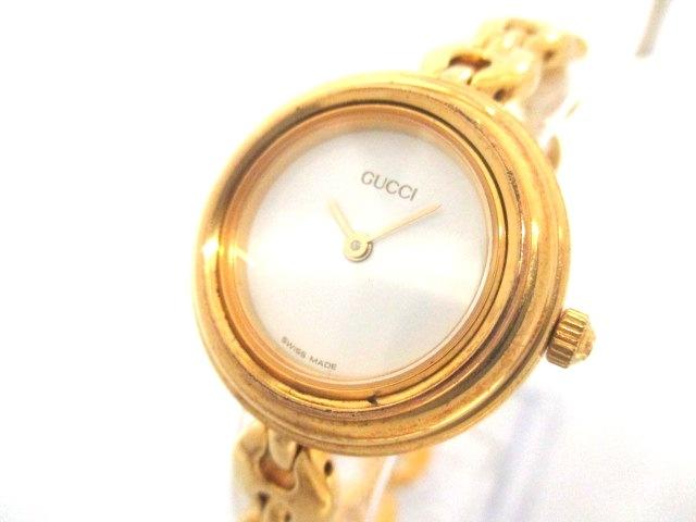 2d0b3c873f07 腕時計 11/12.2 ベゼルウォッチ (グッチ) 【中古】 GUCCI レディース 白