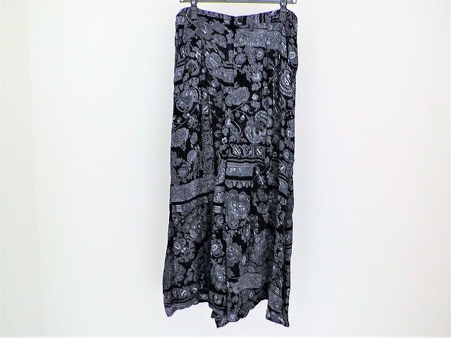 スカート 黒×グレー×アイボリー____