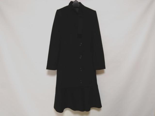 コート 黒_カシミヤ/ロング丈/冬物___