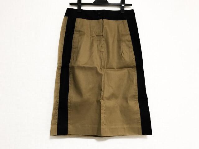 スカート ブラウン×黒____