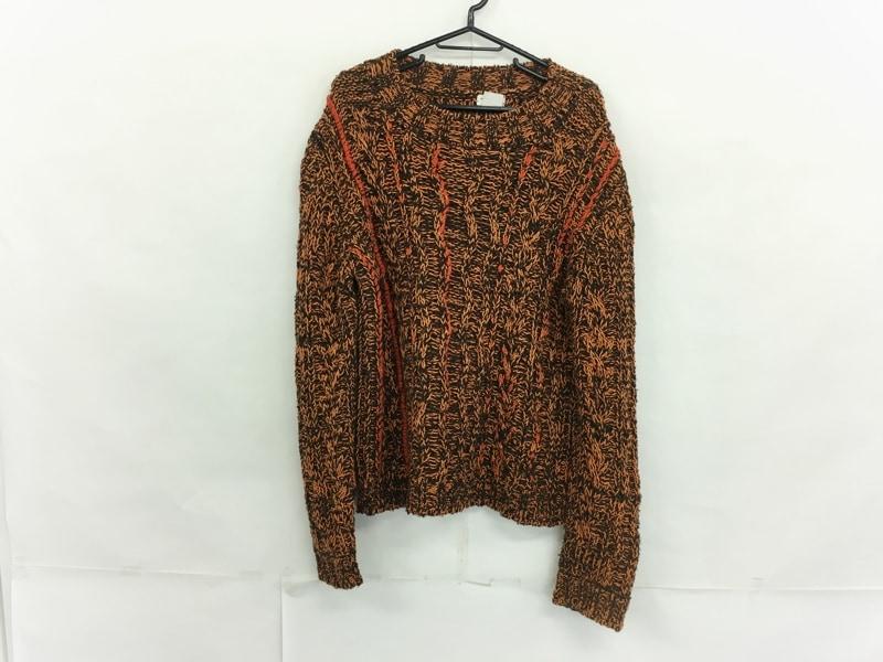 セーター オレンジ×ダークグレー____