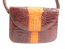 Crocodile Skin(クロコダイルスキン)のショルダーバッグ