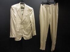 GUCCI(グッチ) シングルスーツ メンズ 46 ベージュ シルク