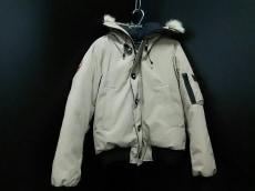 カナダグース ダウンジャケット サイズL/6 メンズ ベージュ×黒 冬物