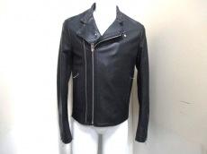 バレンシアガ ライダースジャケット 48 メンズ 黒×ライトグレー