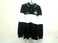 ポロラルフローレン 長袖ポロシャツ L メンズ 黒×白 ボーダー