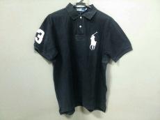 ポロラルフローレン 半袖ポロシャツ XL メンズ新品同様  黒×白