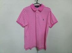 ポロラルフローレン 半袖ポロシャツ M メンズ ピンク×白