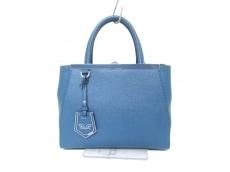 フェンディ ハンドバッグ プチトゥージュール 8BH253 ブルー