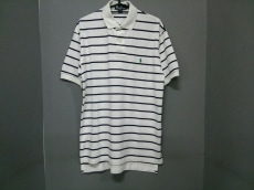 ポロラルフローレン 半袖ポロシャツ S メンズ 白×ダークネイビー