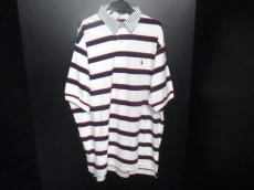 ポロラルフローレン 半袖ポロシャツ メンズ L 白×ネイビー×レッド