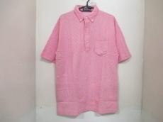 新品同様 ポロラルフローレン 半袖ポロシャツ メンズ L レッド×白