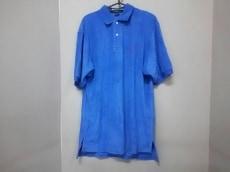 ポロラルフローレン 半袖ポロシャツ L メンズ ブルー パイル地