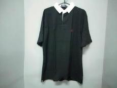 ポロラルフローレン 半袖ポロシャツ L メンズ ダークグレー×白