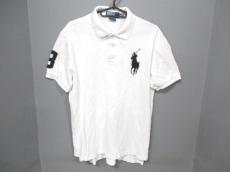 ポロラルフローレン 半袖ポロシャツ M メンズ ビッグポニー 白×黒