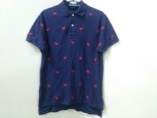 ポロラルフローレン 半袖ポロシャツ S メンズ美品  ネイビー×レッド