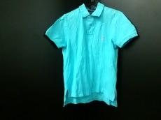 ポロラルフローレン 長袖ポロシャツ L メンズ ライトブルー×ピンク