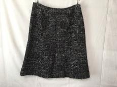 シャネル スカート 36 レディース 黒×アイボリー CHANEL