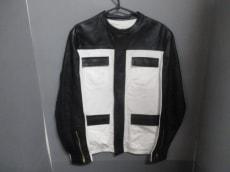 バレンシアガ ブルゾン 46 メンズ 黒×白 レザー BALENCIAGA