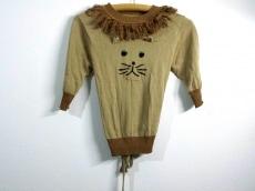ミュベール 七分袖セーター F レディース 美品 ベージュ×マルチ