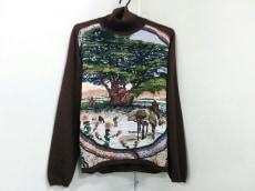 エルメス 長袖セーター 42 レディース ダークブラウン×マルチ