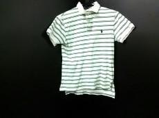 ポロラルフローレン 半袖ポロシャツ S メンズ 白×グリーン ボーダー