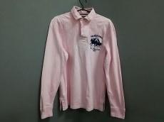 ポロラルフローレン 長袖ポロシャツ M メンズ ピンク×ネイビー