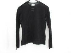 シャネル 長袖セーター 38 レディース 黒 薄手/透け感あり