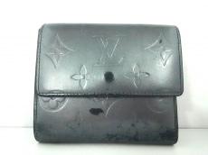 ルイヴィトン Wホック財布 モノグラムマット M65112 ノワール