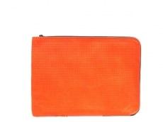 タスティング バッグ 美品 オレンジ×ダークブラウン レザー