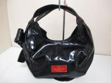 バレンチノガラバーニ ハンドバッグ 黒 リボン/赤タグ