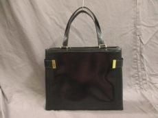 グッチ ハンドバッグ - - 黒×ゴールド レザー×金属素材 GUCCI