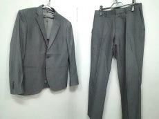 ナノユニバース シングルスーツ サイズ46 XL メンズ ストライプ