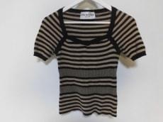 アンナモリナーリ 半袖セーター 42(I) レディース 黒×ベージュ