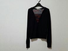 バレンシアガ 長袖セーター 38 レディース 黒×レッド