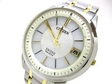 CITIZEN(シチズン) 腕時計 エクシード H113-T016197 メンズ 白