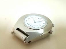 モンブラン 小物 7054 白×シルバー 置時計(動作確認できず)