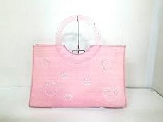 サマンサタバサ トートバッグ ピンク ラインストーン/ハート