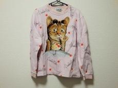 クニオ サトウ トレーナー M メンズ ピンク×ブラウン 猫