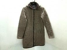 ラベンハム コート 36 レディース 美品 ベージュ×ブラウン