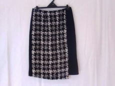 チェスティ スカート 0 レディース 美品 黒×白×グレー Chesty