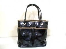 アニヤハインドマーチ ハンドバッグ - 黒×ゴールド