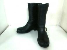 ジミーチュウ ブーツ 36 1/2 レディース 黒 レザー JIMMY CHOO